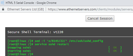 How do I change my SSH port? - Knowledgebase - Ethernet Servers Ltd